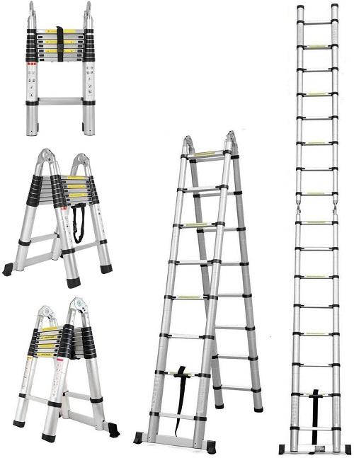 folding telescopic ladder