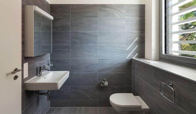 a warm bathroom