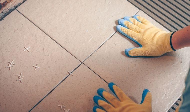 bathroom tiles on floor