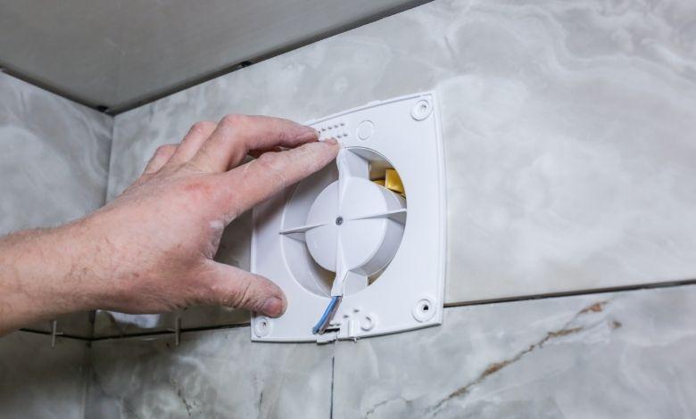 fit bathroom fan into hole