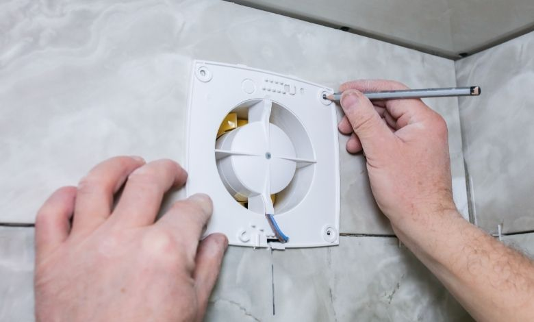 mark hole for drilling in wall