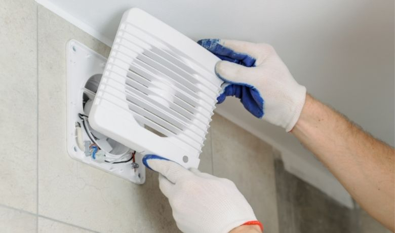 removing bathroom extractor cover