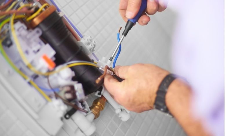 replacing electric shower heating element