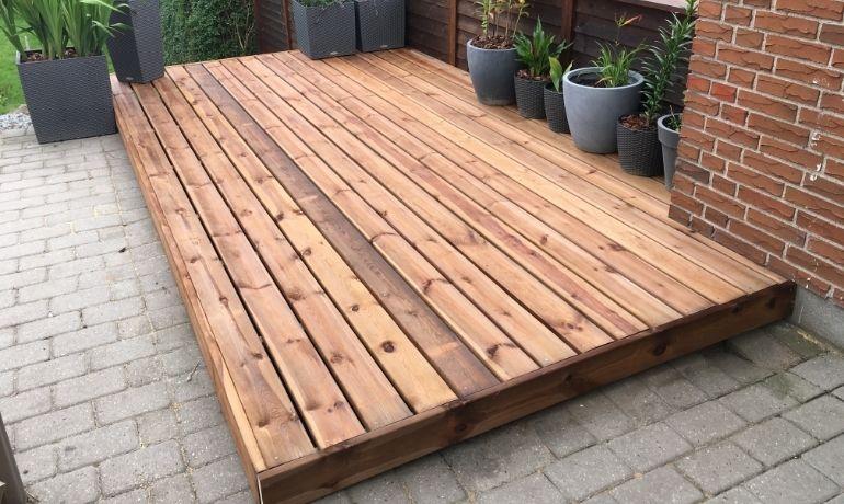 wooden decking area